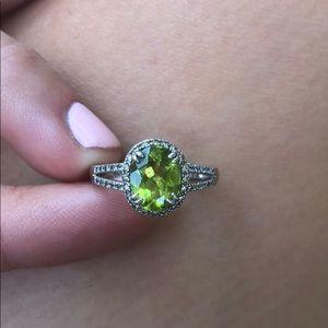 Size 7 peridot ring from Helzberg